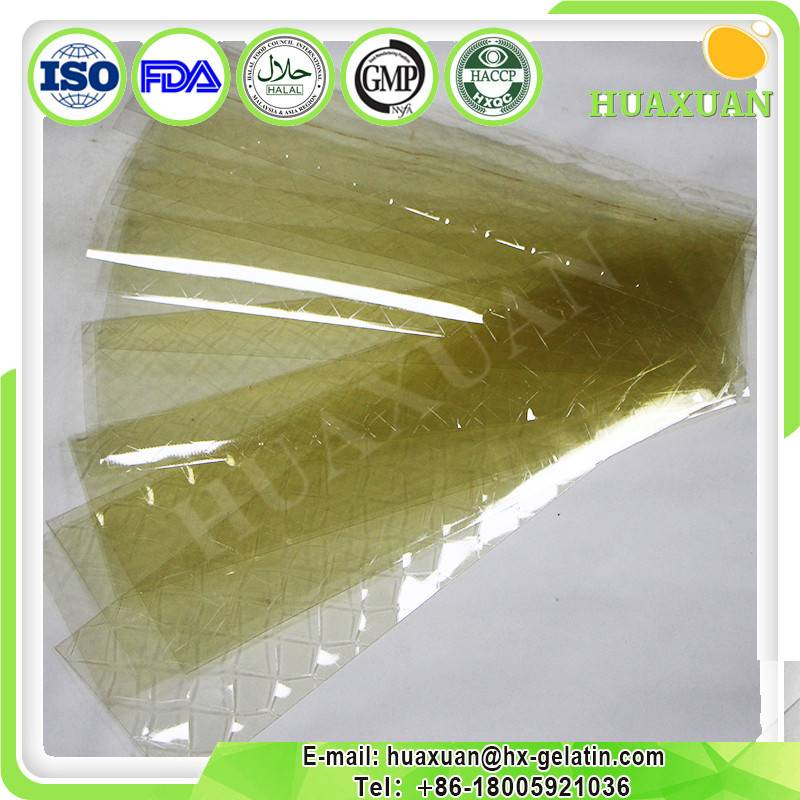 Halal beef edible leaf Gelatin each 5 g for food industrial