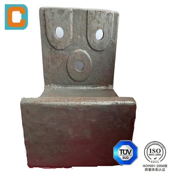 OEM/ customized Steel casting nose ring plate,kiln inlet trough