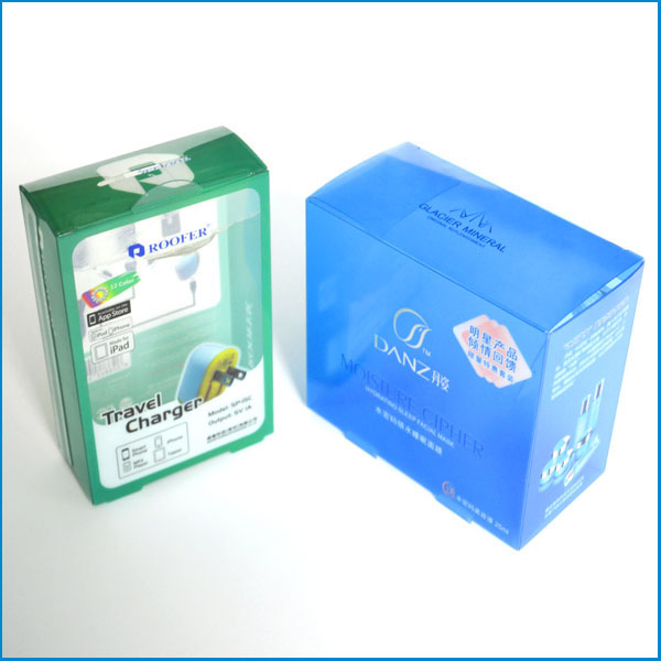 Clear printed plastic boxes