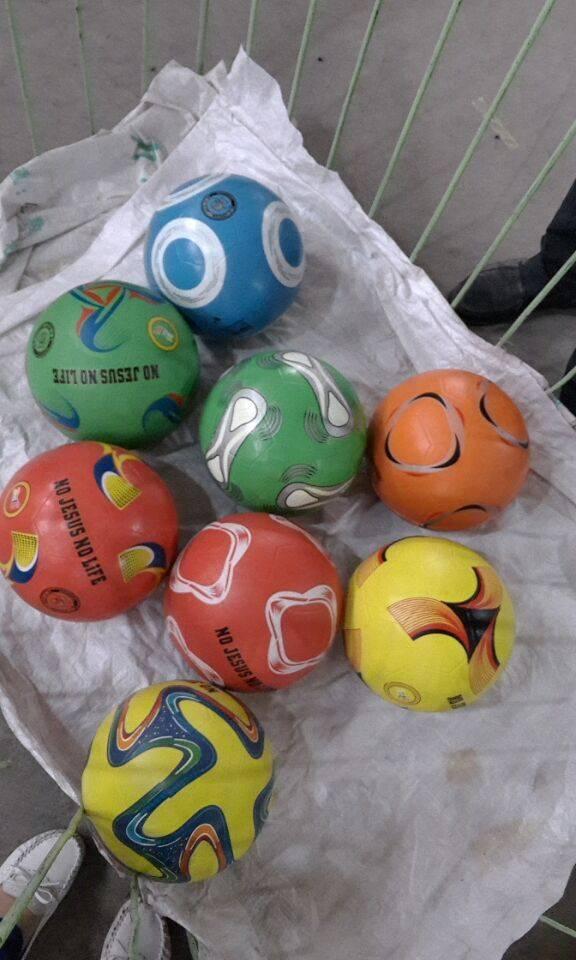 rubber soccer  football