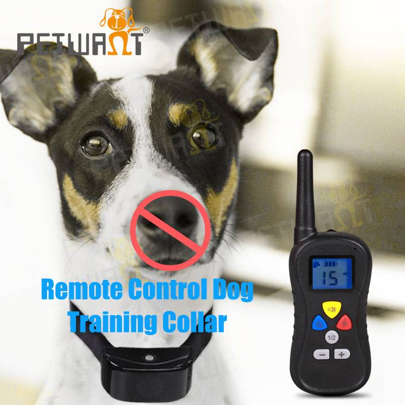 Battery operated and waterproof remote control dog training products no bark dog collar