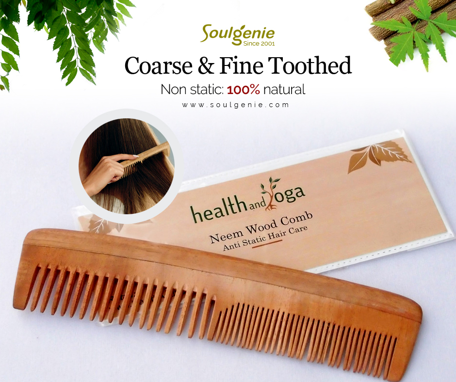 Neem Comb - Coarse & Fine Toothed
