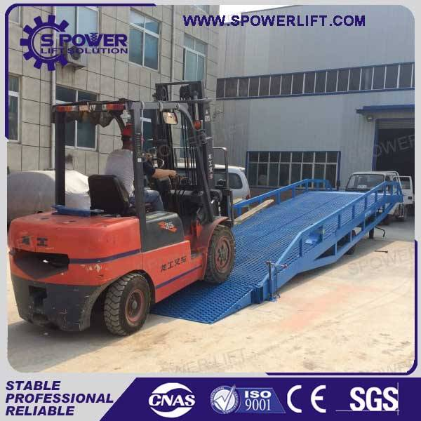 Spower warehouse hydraulic mobile loading ramps for trailers