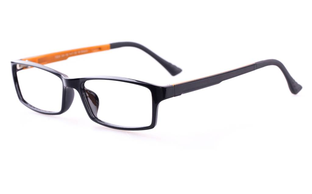 S.Black Orange 7004 SMOOTH Full Rim Square ULTEM Glasses Sunglasses
