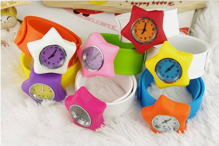Cheap Fashion children Watch, Slap Silicone Band, Quartz Movement Children's Watch Manufacturer