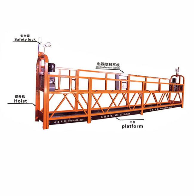 hot sale secure Electric suspended platform for construction site ZLP500 ZLP630 ZLP800