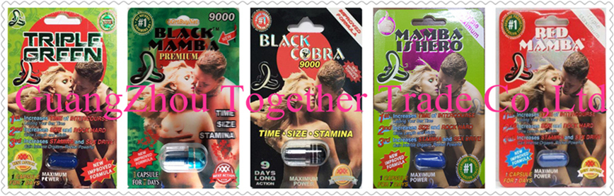 Black Red Green Mamba Rhino  Platinum Male Sexual Enhancer Capsule GENUINE