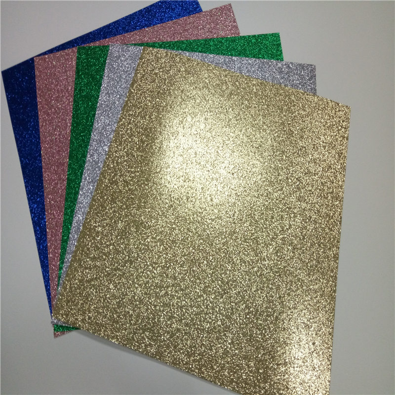 Festival decor craft cardboard Colorful 30.5CM30.5CM glitter paper decrotion Factory Wholesales