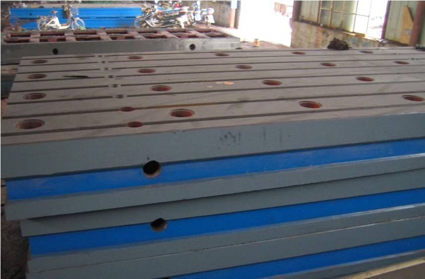 Casting Accurately Drill Holes Mounting Machine Cast Iron Welding Surface Plate