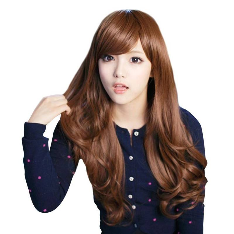 Full head Long wavy brown wig