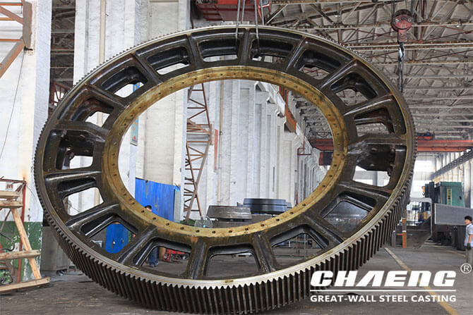 Rotary kiln spare parts replacement