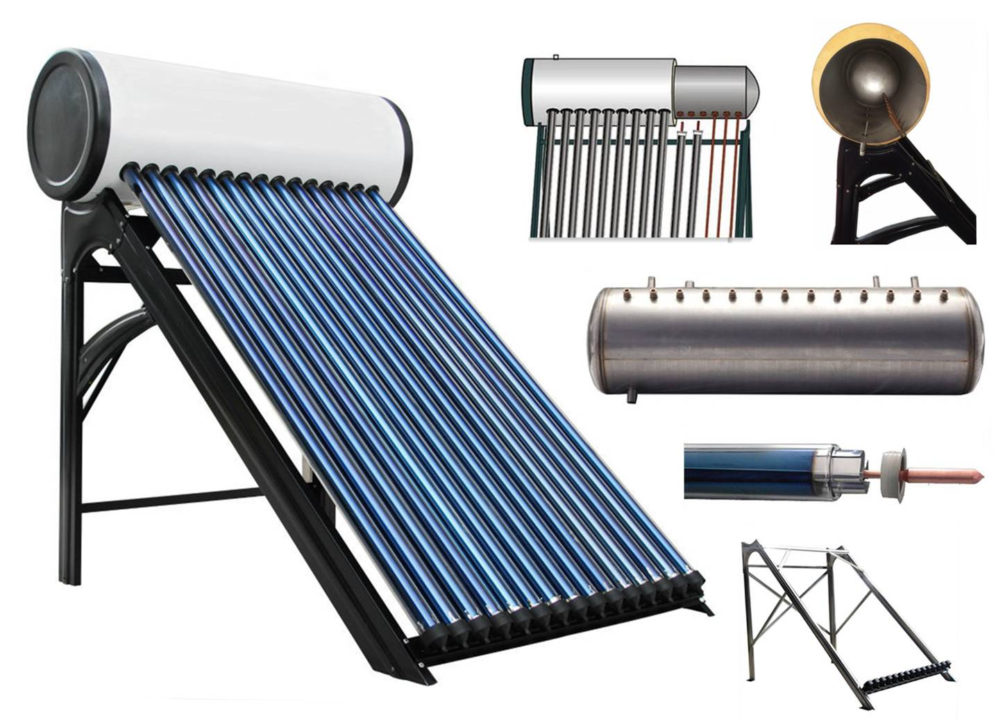 High Pressure Solar Hot Water Heater, Pressurized Stainless Steel Solar Hot Water Heaters (Heat Pipe