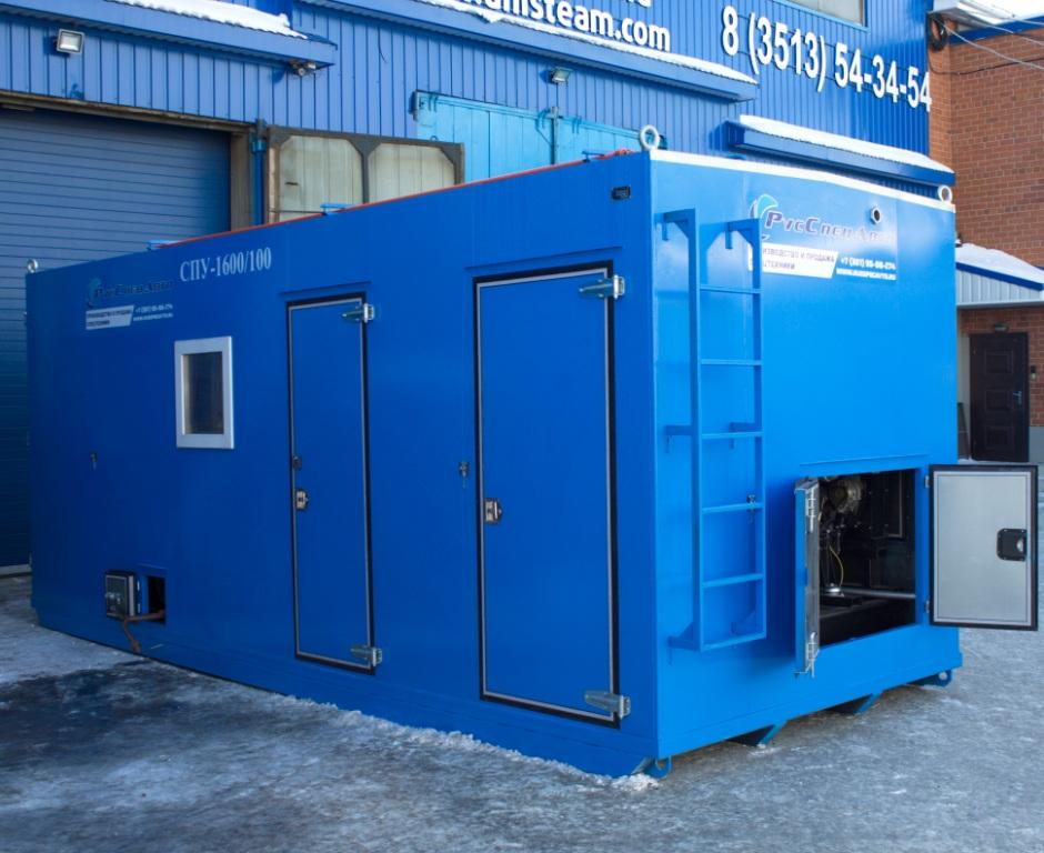 UNISTEAM-SD 2000/100 steam boiler house for oil extraction, heating, cleaning, warming up, hot water