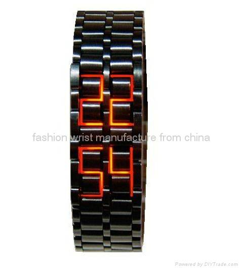 Iron Samurai Japanese Inspired Blue LED Watch FW-812