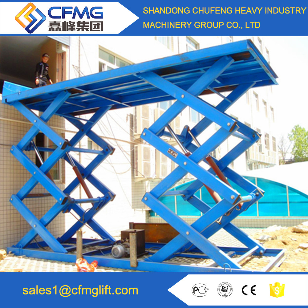 loading 5ton hydraulic table stage lift