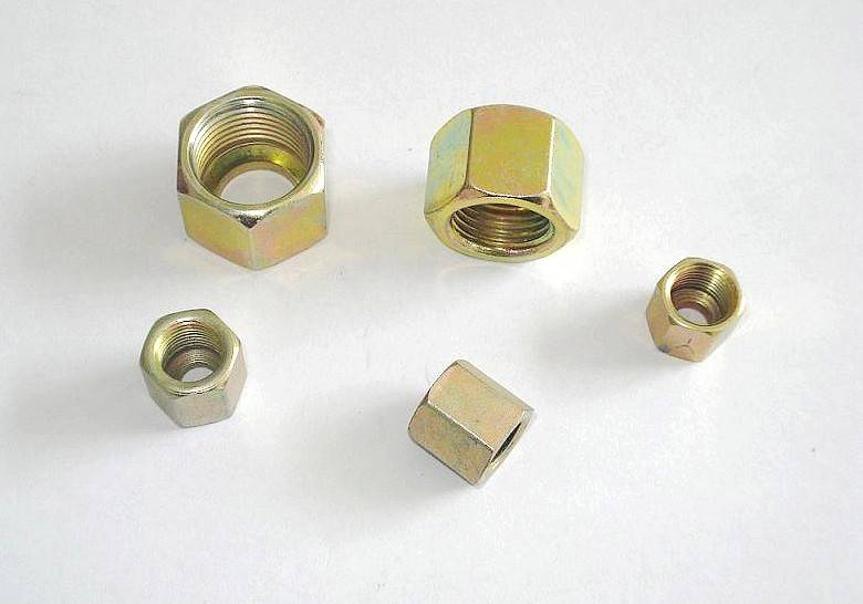 cnc machining precision standard screw nuts for tube and hose