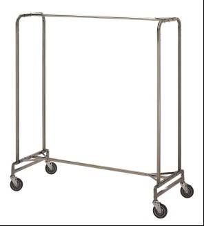 metal  mobile garment rack with sturdy castors