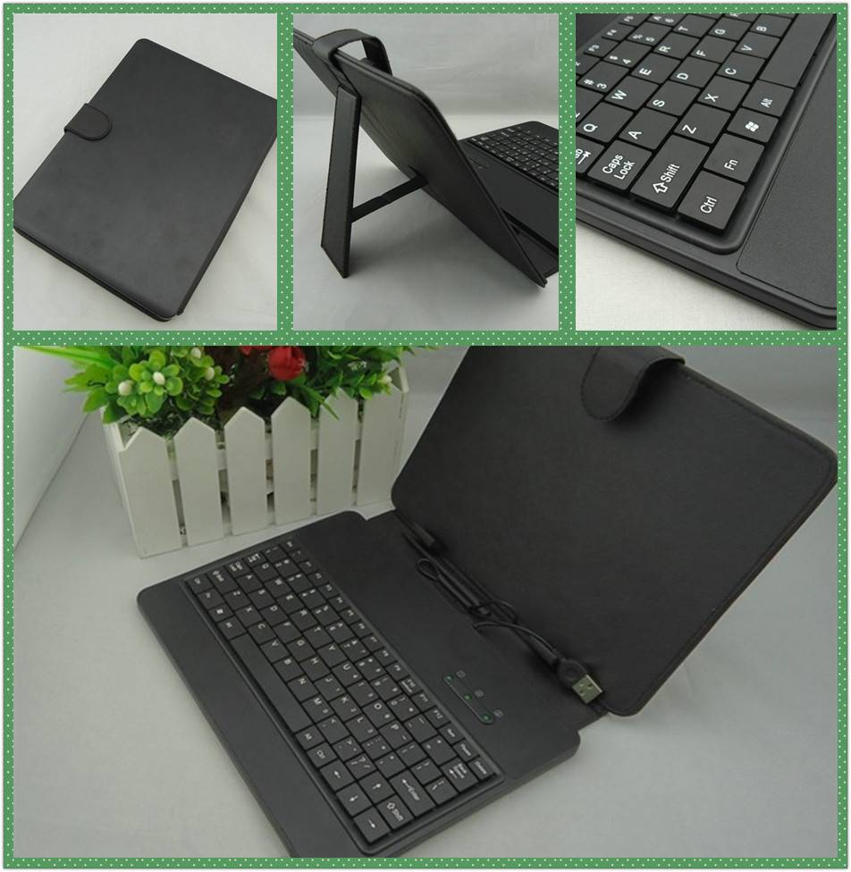 High Quality 8 inch Tablet/MID USB Keyboard with Leather Case