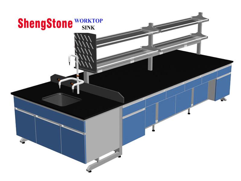H-Frame laboratory epoxy resin island worktops