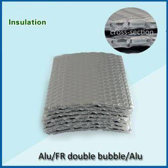 double layer air bubble and alumium foil heat insulation material
