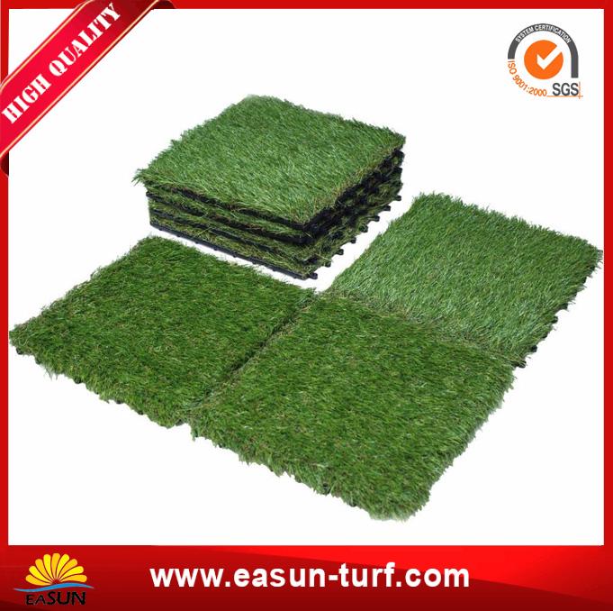 Hot sale Landscaping green interlocking artificial grass tile-AL