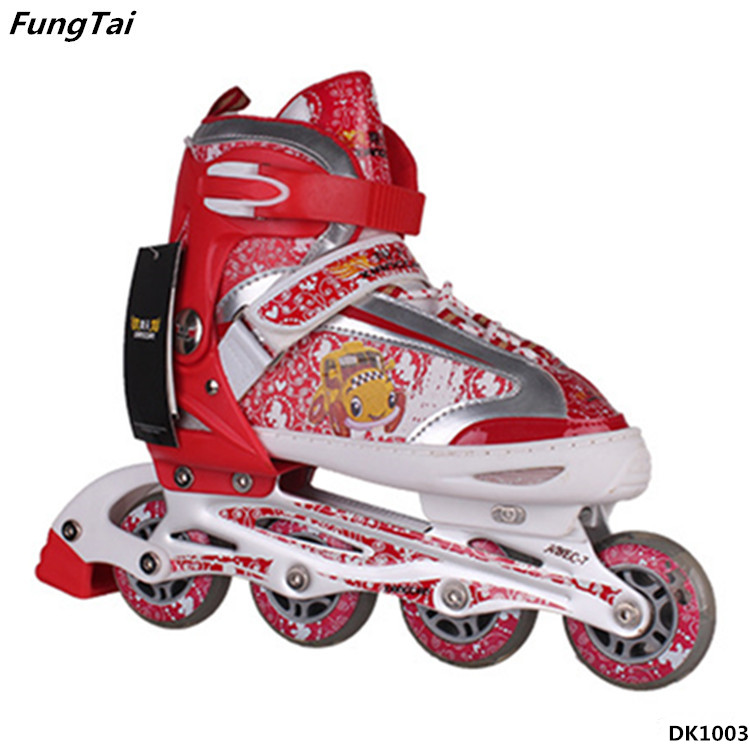 Children Soft Roller Inline Skate Shoes Freestyle Learners Patins (DK1003)