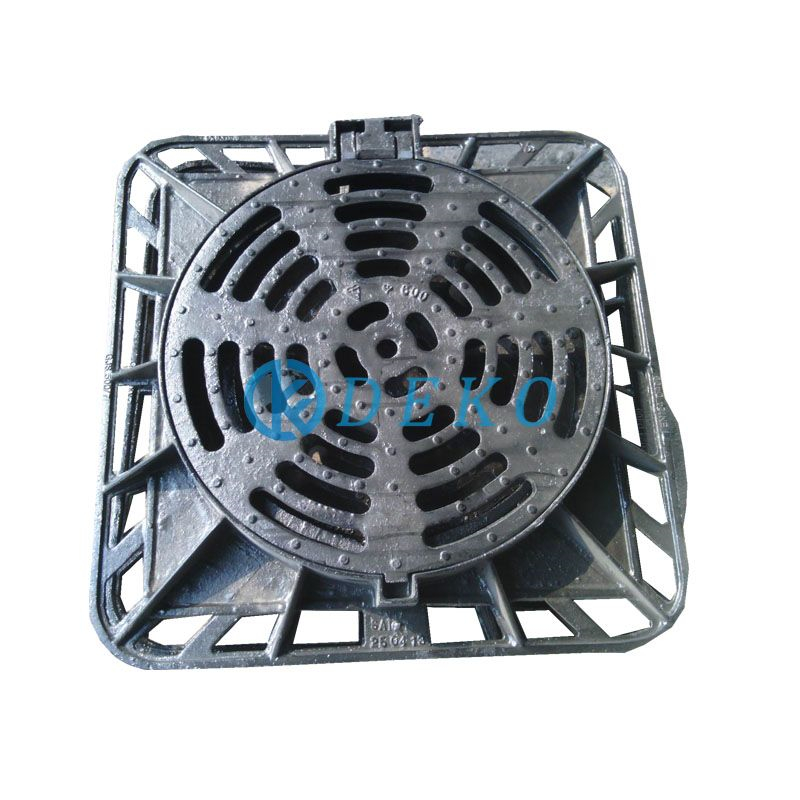 square round grating D400 850x850mm,CO DIA600, height 100mm Gully Grating Height 100mm