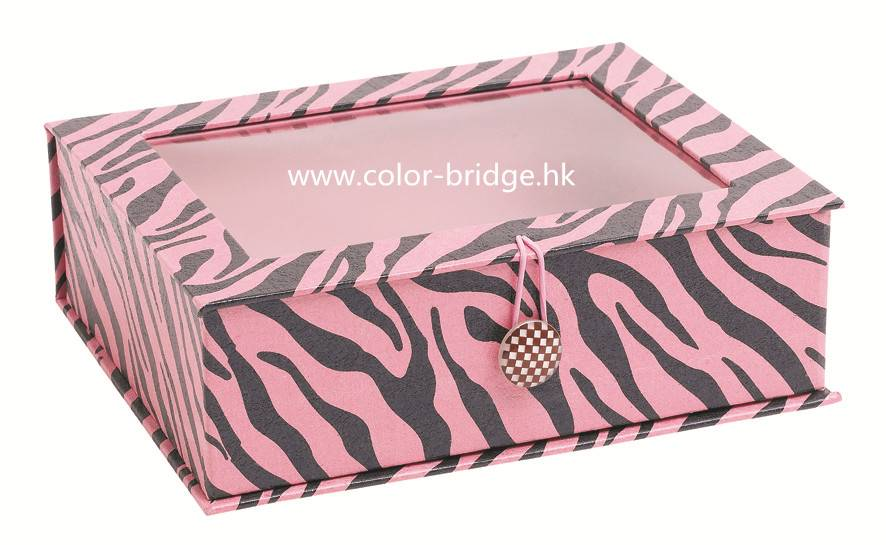 Customizing  Cardboard Paper Gift Box With Window Jewelry Box