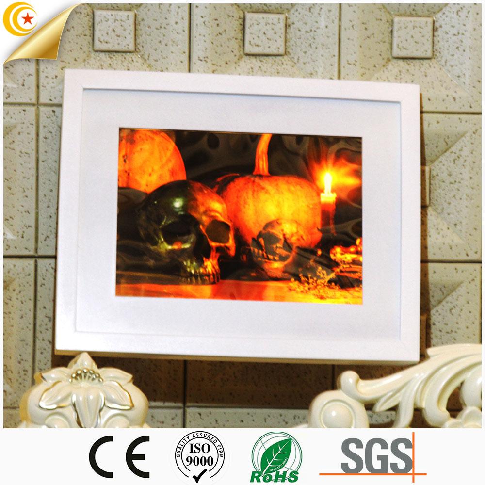 Linhai Halloween Decoration Pumpkin Ghost Light Halloween LED Light Wall Plague