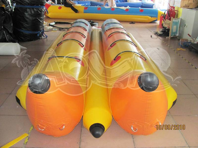 Inflatable Yellow surfing Banana Boat