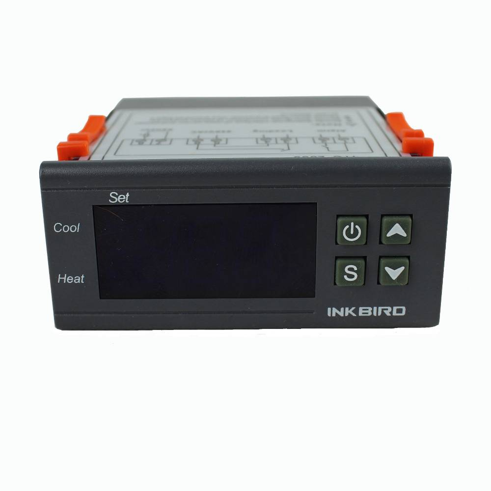 Inkbird 220V one Relay & one Alarm Output Digital Temperature Controller Degree F &C Thermostat w Se