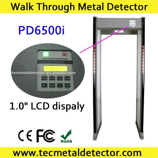 door type metal detector TEC pd6500i walk through metal detector door, security gates