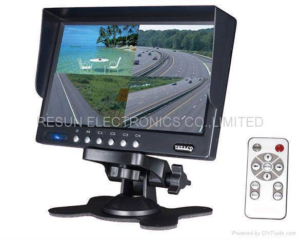"""7"""" TFT Colour LCD Monitor with built in quad multiplexer"""