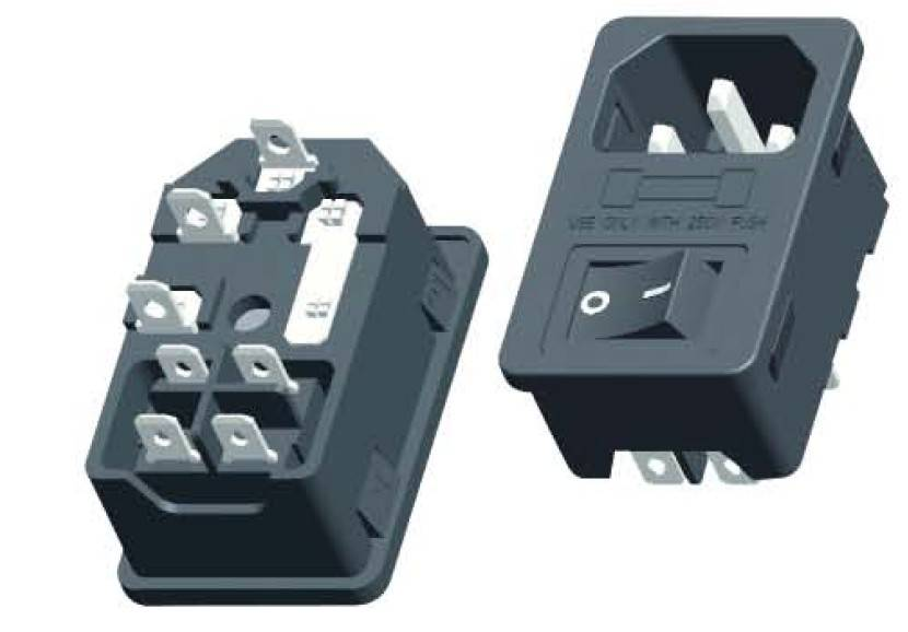 AC power plug with fused folder and switch