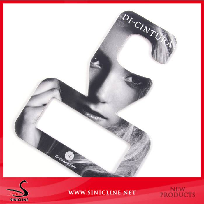 Sinicline fashion design quality cardboard paper hanger for scarves