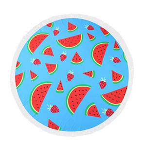 RS14 Watermelon round towel
