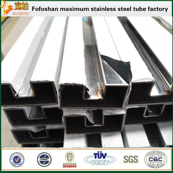 grade 316l high quality stainless steel grooving pipe with 8k mirror surface