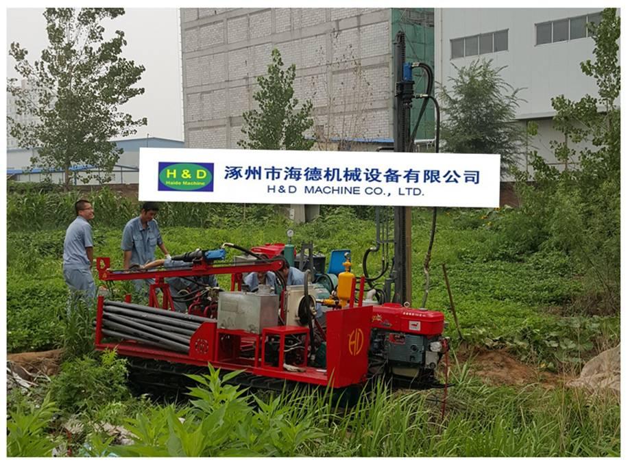 HD-C100A Mechanical Drive Crawler Drilling Rig