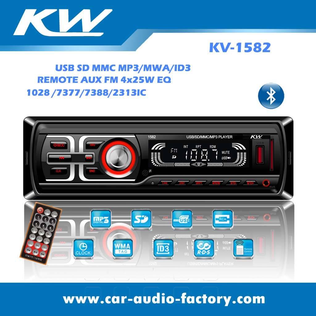 KV1582 Single din Car audio MP3 player