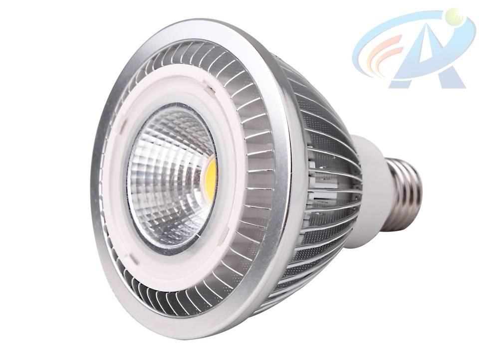 12W PAR30 E27 Fins Radiator COB LED Spot Light