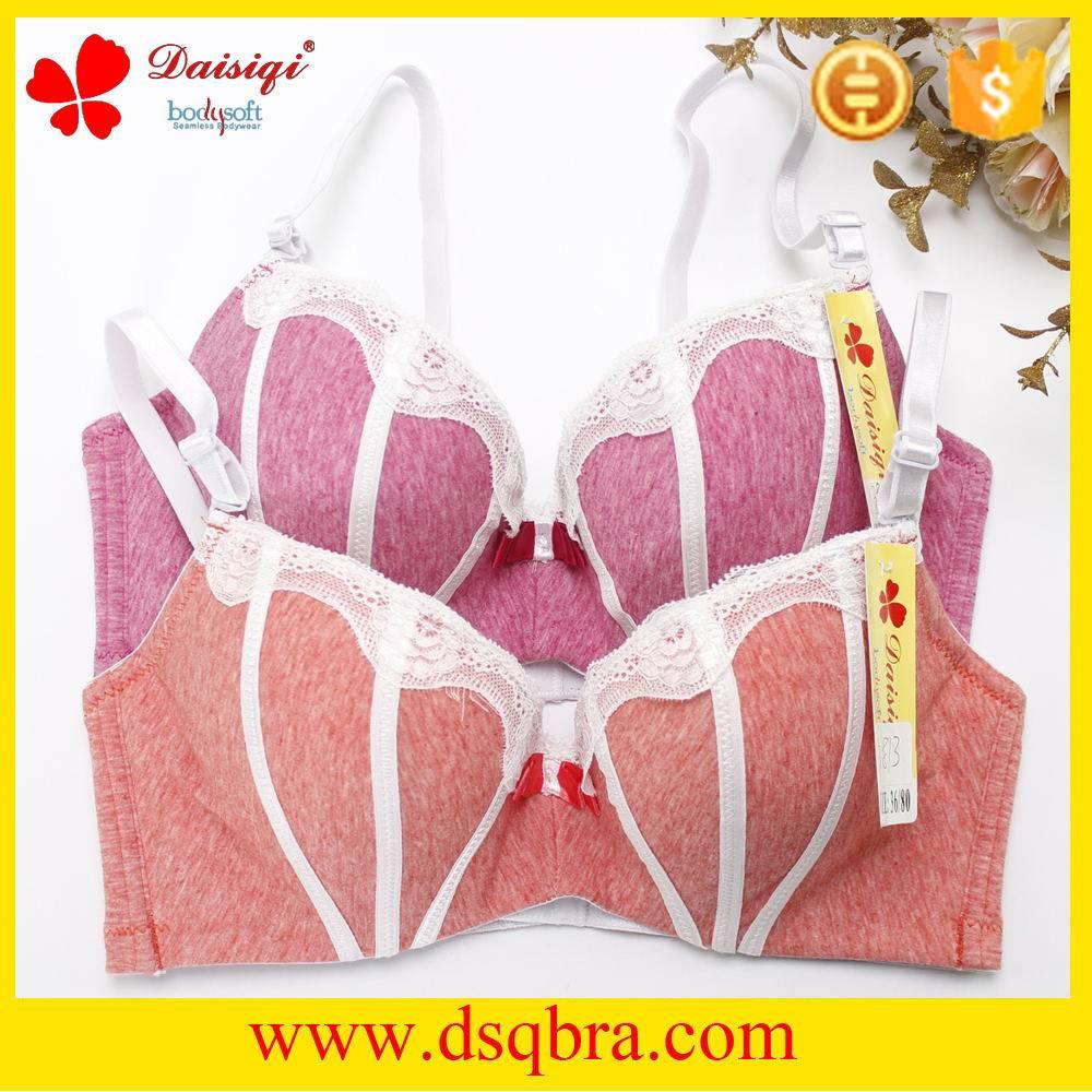 Top quality wemen cotton bra sexy push up bra with lace decoration