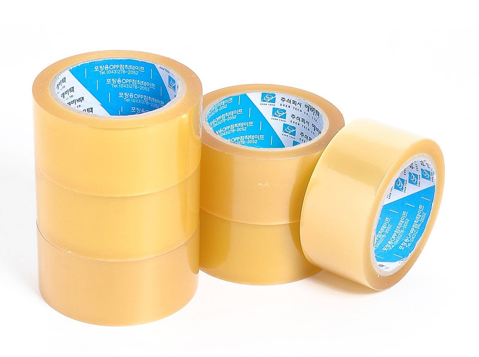 Transparent Solvent Rubber Based OPP Tape
