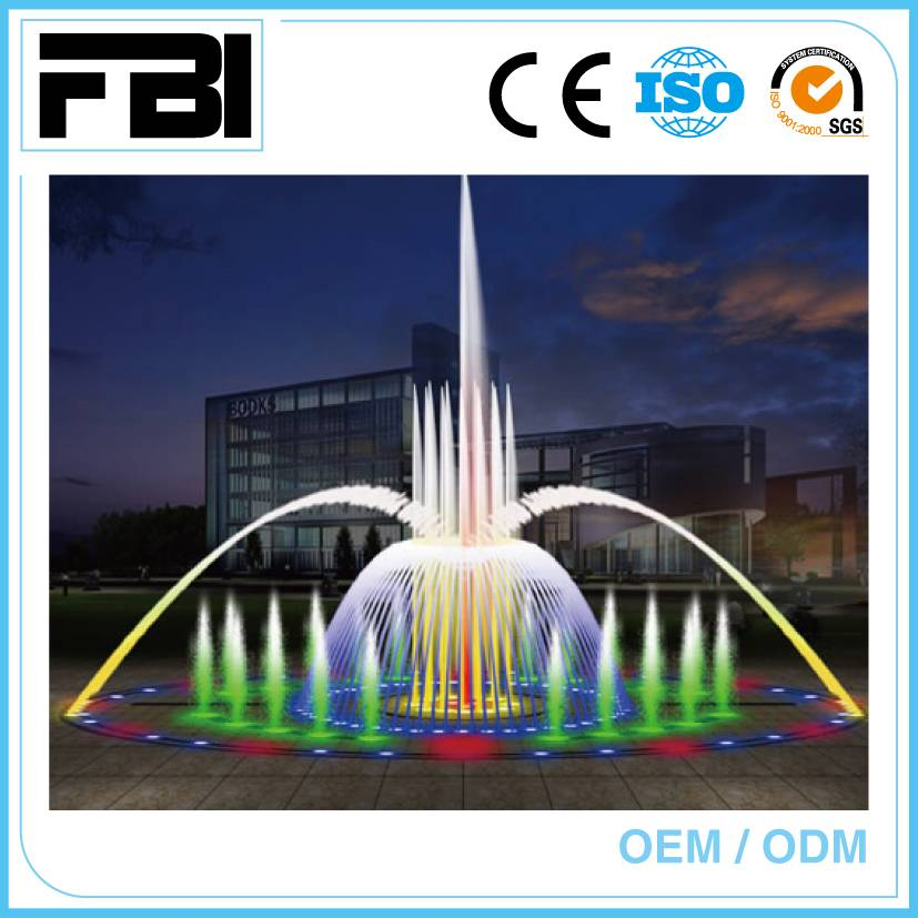 10m round music park fountain, plaza fountain from china