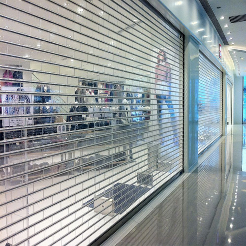 100% transparent polycarbonate roller shutter door, factory from China