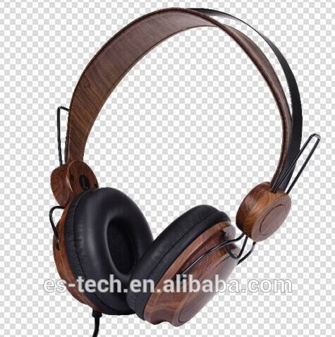 2014 new wired wood headphone for PCs