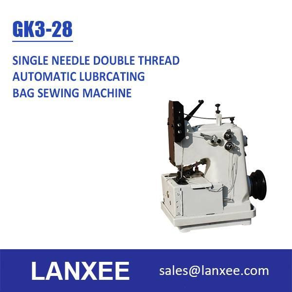 Lanxee GK3-28 automatic lubricating single needle double thread bag sewing machine
