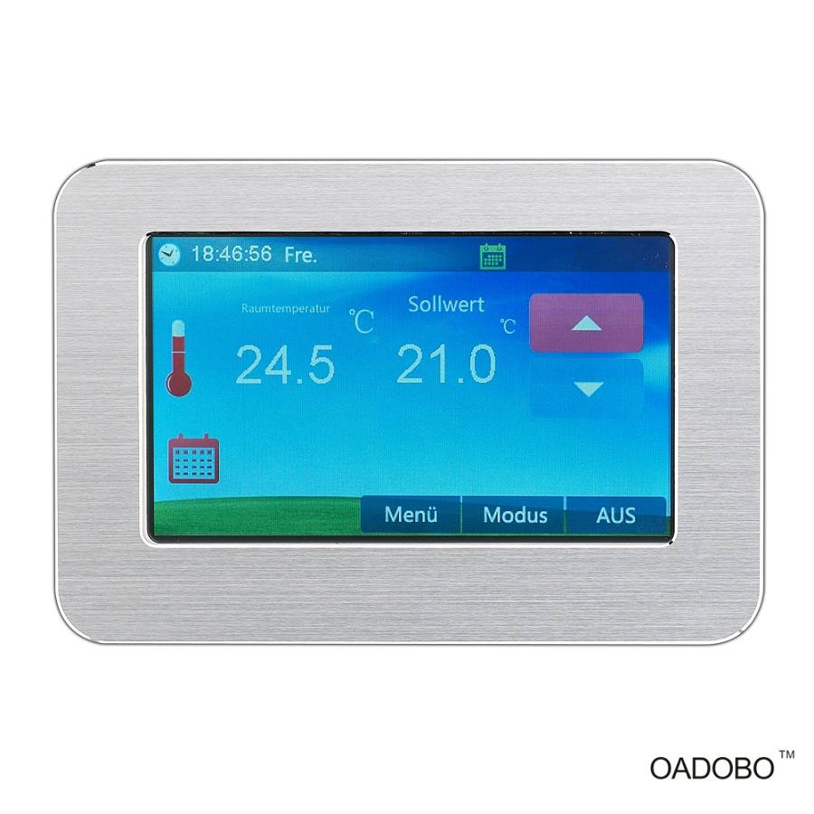 HT-CS01 color touch electronic floor heating thermostat for temperature control with CE RoHS