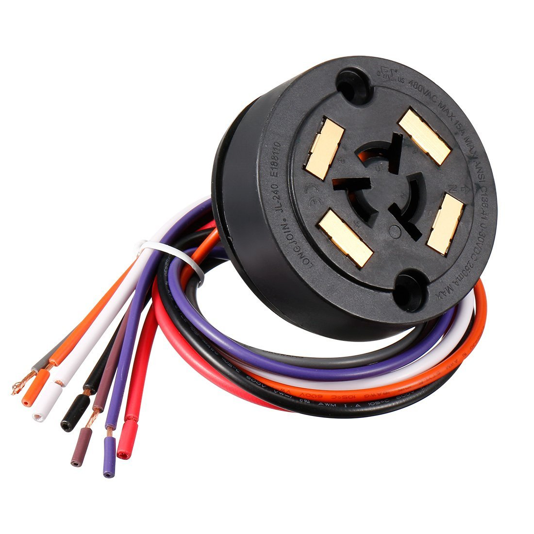 Competitive Price Te Connectivity 4 Signal Contact ANSI C136.41 Rotatable Dimming Receptacle