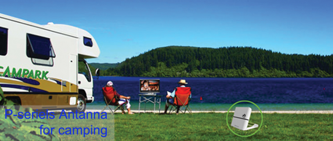 Portable TV antenna for camping (P-series )