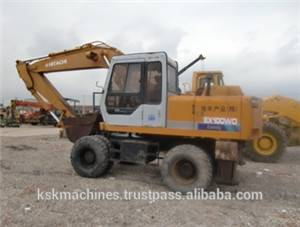 Used HITACHI EX100wd-1wheel excavator